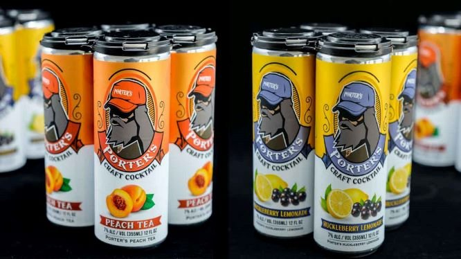 Potter's Craft Cocktails Peach Tea & Huckleberry Lemonade
